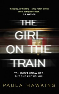 The artwork from the hardback version of Paula Hawkins' 'The Girl On The Train'