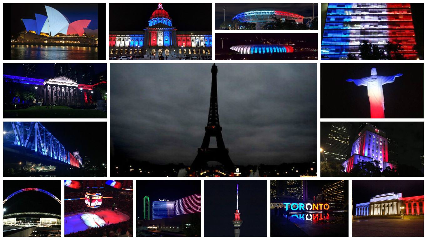 The Eiffel Tower always turns its lights off at 1am. This is still a powerful set of images.