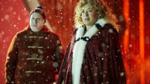 Matt Lucas guest stars alongside Alex Kingston in 'The Husbands of River Song'