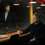 "Sherlock Holmes (Benedict Cumberbatch) and John Watson (Martin Freeman) in ""Sherlock"" Season 3"