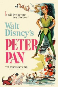 The original 1953 poster for Peter Pan