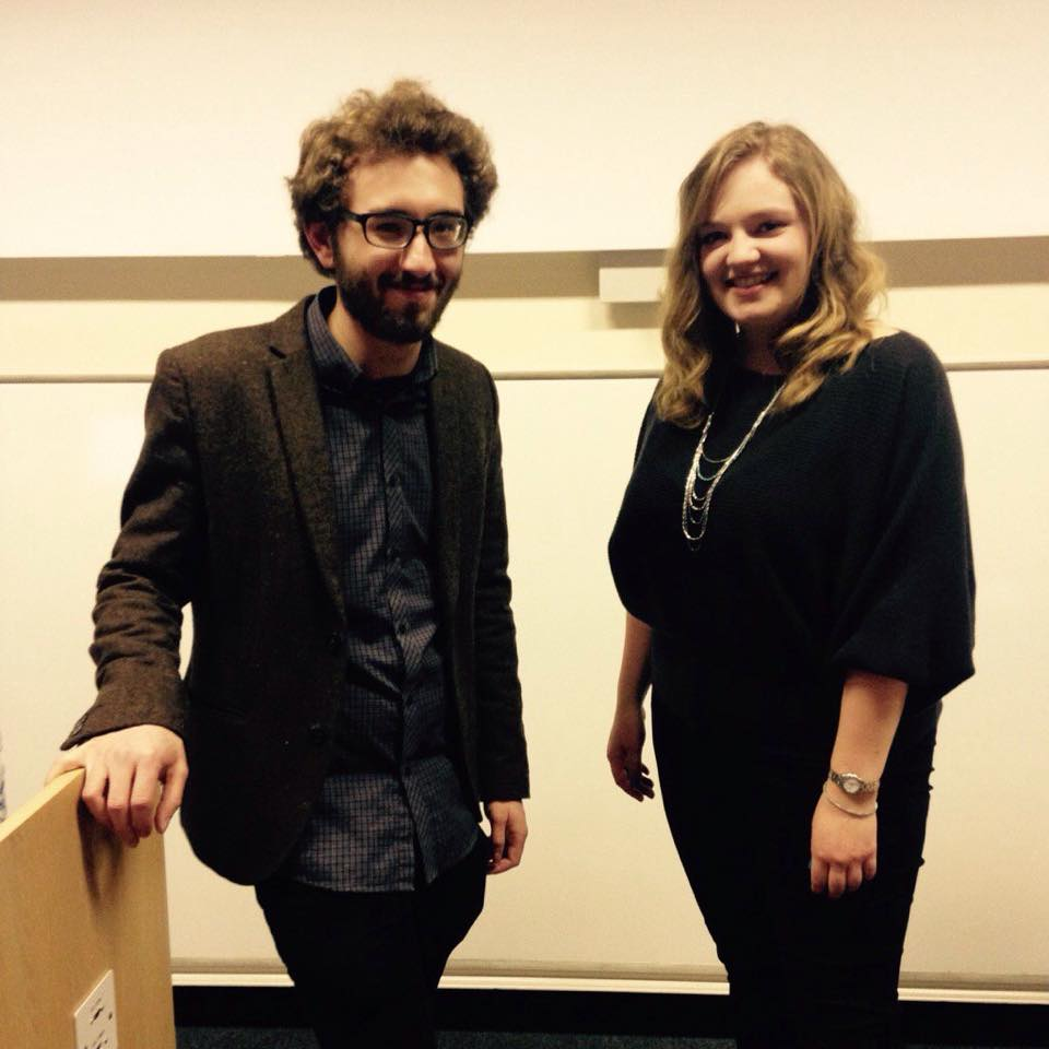Ben Robins and Pippa Short, founders of the UoS Film Festival