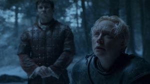Brienne (Gwendoline Christie) finally gets a chance to protect Sansa (Sophie Turner)