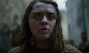 Can Arya (Maisie Williams) please pull herself together?
