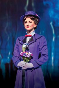 Zizi Strallen as Mary Poppins (image via the Mayflower Theatre)