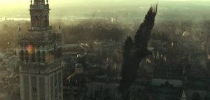 Notable appearance of the classic Assassin's Creed eagle imagery in the trailer - Image via Eurogamer