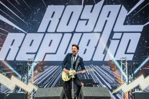 Royal Republic open the very royal Download Festival. Image via Matt Eachus