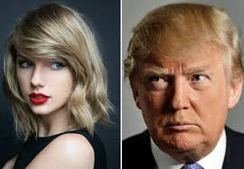 Trump and Swift also feature in 'Famous'