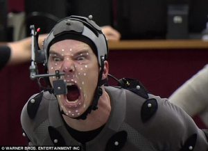 Cumberbatch and the motion capture tech for The Hobbit. Scary stuff. Image via dailymail.co.uk