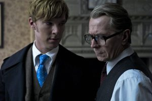 Cumberbatch opposite Gary Oldman in 'Tinker Tailor Soldier Spy'. Image via collider.com
