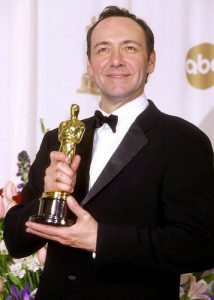 Kevin Spacey with his Oscar for American Beauty. Image via pinterest.com