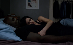 Torn apart: Luke (Mike Colter) and Jessica (Krysten Ritter) [Image via Digital Spy].