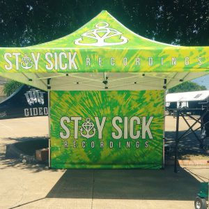 Stay Sick's tent at Warp Tour, Detroit, MI. Image via twitter.com/vestacollide