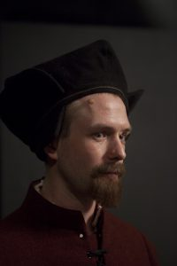 Sandy Batchelor in Tudor garb - Image via Tom Pilston