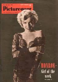 Monroe on fan magazine Picturegoer [Picturegoer]
