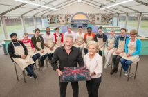 WARNING: Embargoed for publication until 00:00:01 on 16/08/2016 - Programme Name: The Great British Bake Off 2016 - TX: 24/08/2016 - Episode: n/a (No. n/a) - Picture Shows: All the bakers with Mary Berry and Paul Hollywood  Image- (C) Love Productions - Photographer: Mark Bourdillon