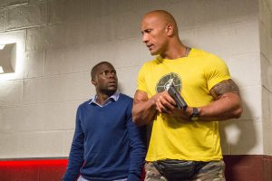 Kevin Hart and Dwayne Johnson in Central Intelligence. Credit: Claire Folger.