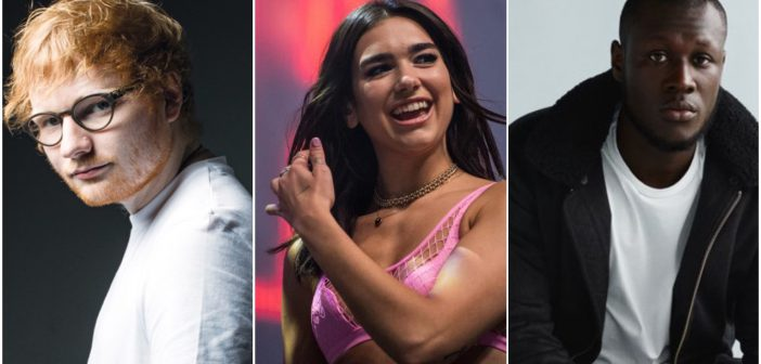Dua Lipa and Ed Sheeran lead nominations for the Brits 2018