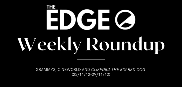 News Weekly Roundup (23/11/12-29/11/12) – Grammys, Cineworld and Clifford The Big Red Dog